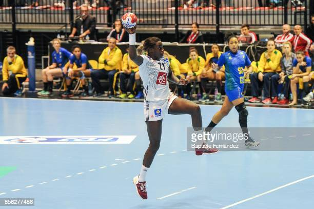 Claudine Mendy of France during the handball women's international friendly match between France and Brazil on October 1 2017 in TremblayenFrance...