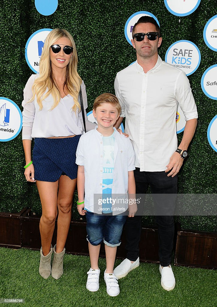 Claudine Palmer, <a gi-track='captionPersonalityLinkClicked' href=/galleries/search?phrase=Robbie+Keane&family=editorial&specificpeople=171824 ng-click='$event.stopPropagation()'>Robbie Keane</a> and Robert Ronan Keane attend Safe Kids Day at Smashbox Studios on April 24, 2016 in Culver City, California.