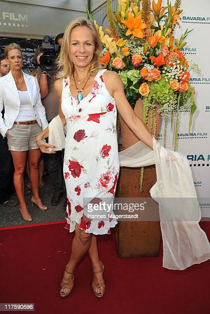 Claudine Wilde attends the 'Bavaria Reception' during the Munich Film Festival at the Kuenstlerhaus on June 28 2011 in Munich Germany