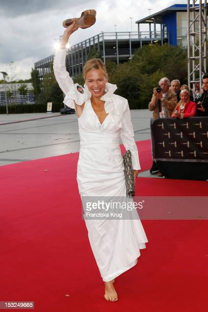 Claudine Wilde attends the German TV Awards 2012 at Coloneum on October 2 2012 in Cologne Germany