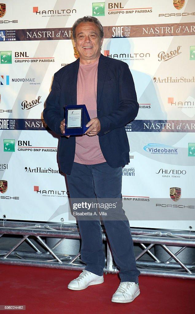 Claudio Amendola attends Nastri D'Argento 2016 Award Nominations at Maxxi on May 31, 2016 in Rome, Italy.