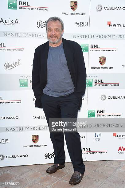 Claudio Amendola attends the Nastri D'Argento Awards 2015 Cocktail on June 27 2015 in Taormina Italy