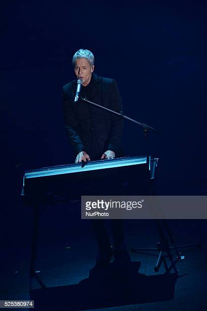 Claudio Baglioni attend the second night of the 64rd Sanremo Song Festival at the Ariston Theatre on February 19 2014 in Sanremo Italy