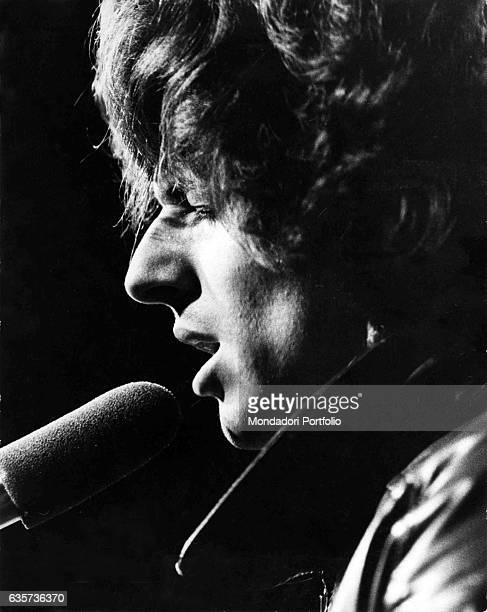 Claudio Baglioni the Italian singersongwriter during a concert Italy 1975