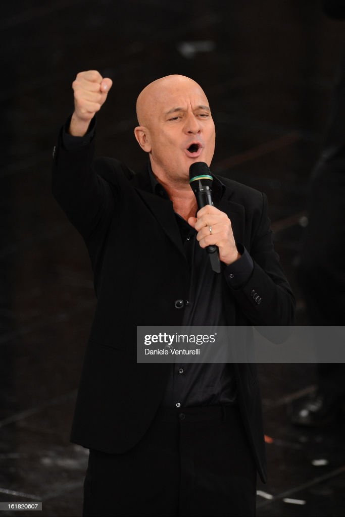 Claudio Bisio attends the closing night of the 63rd Sanremo Song Festival at the Ariston Theatre on February 16, 2013 in Sanremo, Italy.