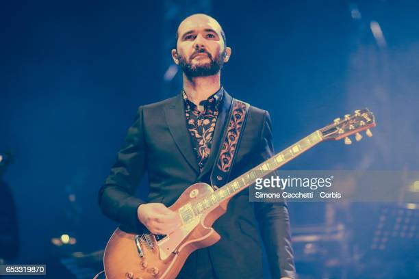 Claudio Brasini of Baustelle performs on stage on March 13 2017 in Rome Italy