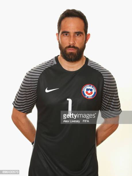 Claudio Bravo of Chile during a portrait session ahead of the FIFA Confederations Cup Russia 2017 at the Crowne Plaza Hotel on June 15 2017 in Moscow...