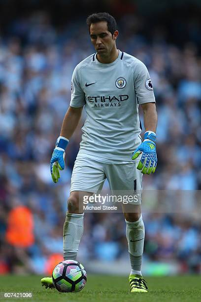 Claudio Bravo of Manchester City during the Premier League match between Manchester City and AFC Bournemouth at Etihad Stadium on September 17 2016...