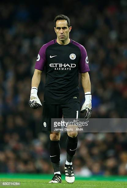 Claudio Bravo of Manchester City during the Premier League match between Manchester City and Arsenal at Etihad Stadium on December 18 2016 in...