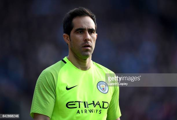 Claudio Bravo of Manchester City during the The Emirates FA Cup Fifth Round match between Huddersfield Town and Manchester City at John Smith's...