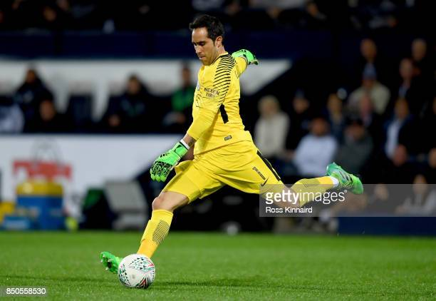 Claudio Bravo of Manchester City in action during the Carabao Cup third round match between West Bromwich Albion and Manchester City at The Hawthorns...