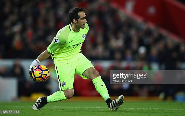 Claudio Bravo of Manchester City in action during the Premier League match between Liverpool and Manchester City at Anfield on December 31 2016 in...