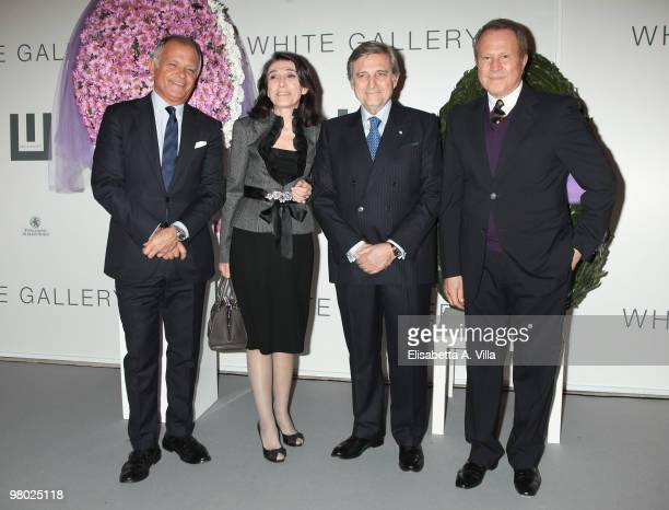 Claudio Casetti wife Franca Cesetti Enzo Denaro and Sergio Valente attend 'L'Arte Nell'Uovo Di Pasqua' Charity Event at the White Gallery on March 24...