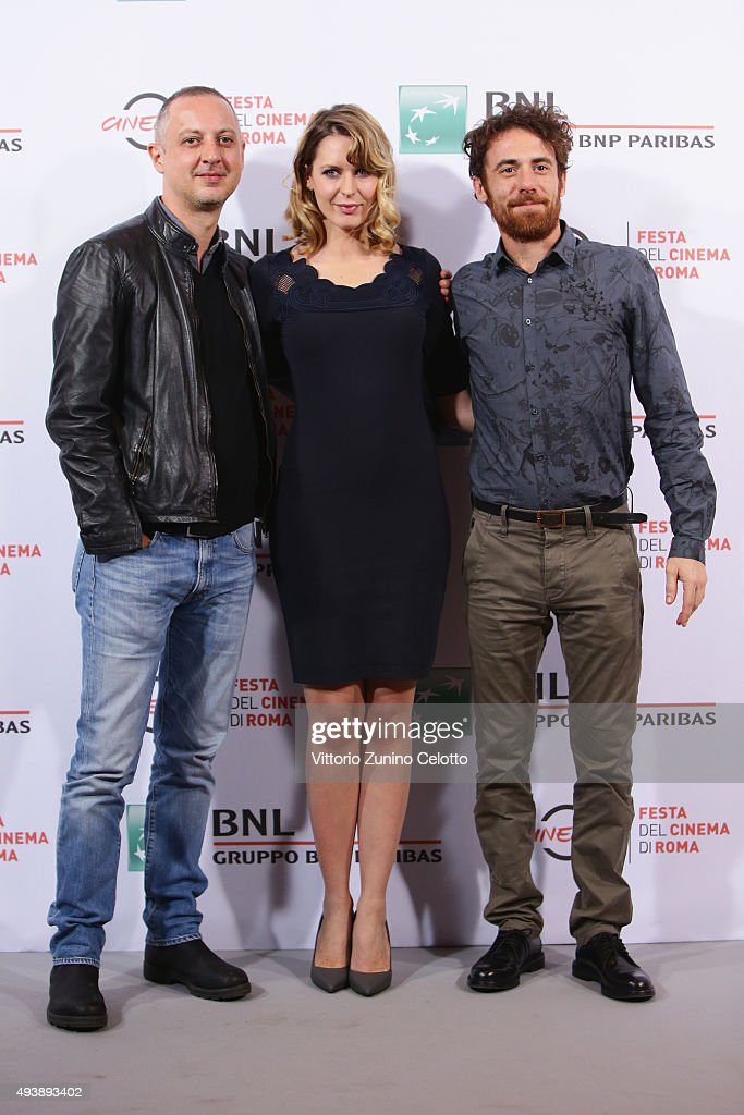 Claudio Cupellini , Elena Radonicich and Elio Germano attend a photocall for 'Alaska' during the 10th Rome Film Fest on October 23, 2015 in Rome, Italy.