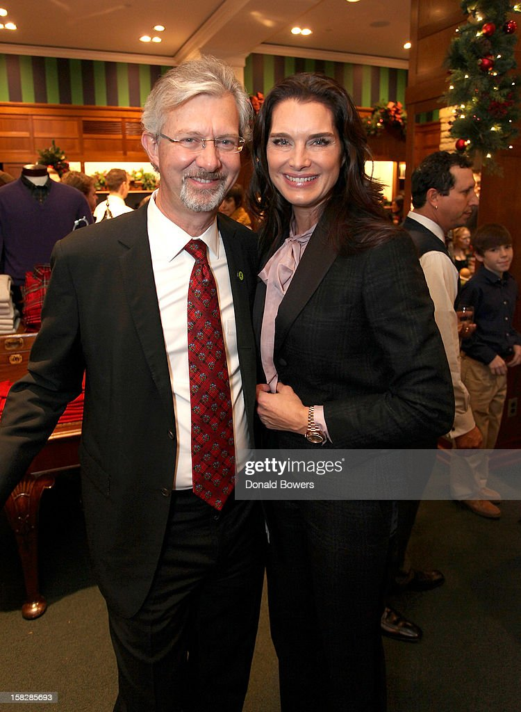 Claudio Del Vecchio and Brooke Shields attend The Brooks Brothers Hosts Seventh Annual Holiday Celebration To Benefit St Jude Children's Research Hospital on December 12, 2012 in New York City.