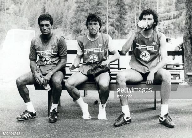 Claudio GENTILE / Daniel PASSARELLA / SOCRATES Saison 1984 /1985 Equipe de la Fiorentina Championnat Italien