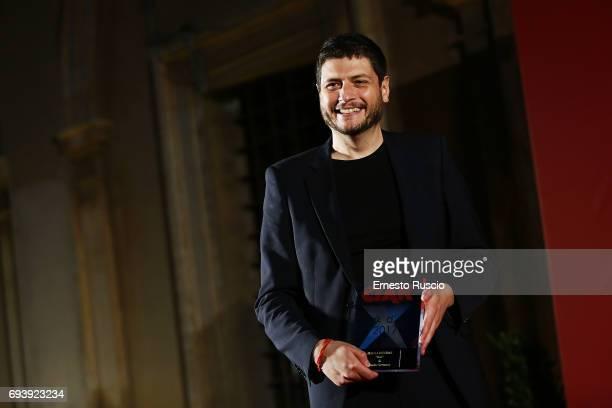 Claudio Giovannesi recives the Ciak D'Oro 2017 award at Link Campus University on June 8 2017 in Rome Italy