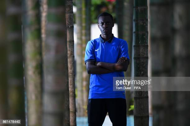 Claudio Gomes of France poses for photographs during the FIFA U17 World Cup India 2017 tournament at on October 15 2017 in Guwahati India