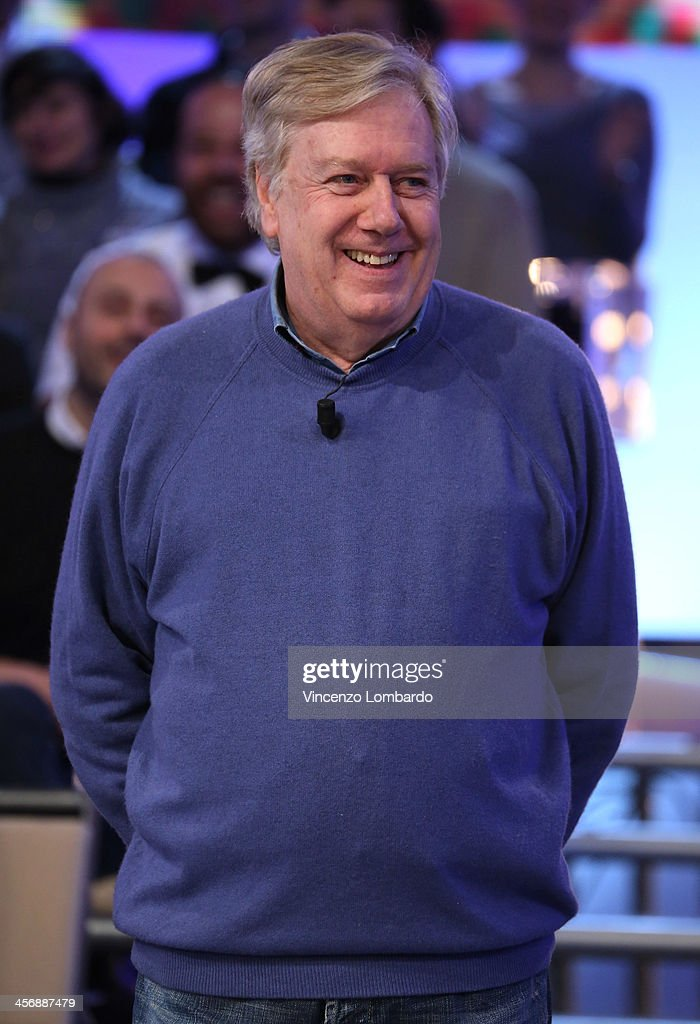 Claudio Lippi appears on Italian tv show 'Quelli Che Il Calcio' on December 15, 2013 in Milan, Italy.