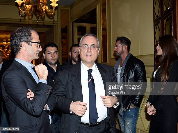 Claudio Lotito during the Federal Italian Football Federation and Infront Italy Agreements Presentation at Hotel Principe di Savoia on November 16...