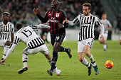 Claudio Marchisio and M'Baye Niang during the serie A match between Juventus FC and AC Milan at the juventus stadium on november 21 2015 in torino...