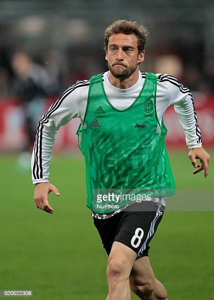 Claudio Marchisio before the serie A match between AC Milan and Juventus FC at Giuseppe Meazza stadium on april 9 2016 in Milano italy