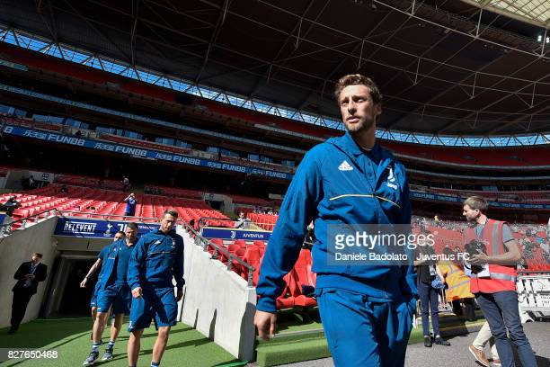 Claudio Marchisio before the Tottenham Hotspur v Juventus PreSeason Friendly match at Wembley Stadium on August 5 2017 in London England