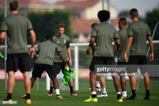 Claudio Marchisio during a Juventus Training Session at Juventus Center Vinovo on September 26 2017 in Vinovo Italy