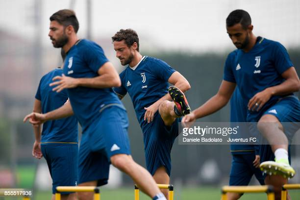 Claudio Marchisio during a Juventus Training Session at Juventus Center Vinovo on September 29 2017 in Vinovo Italy
