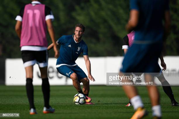 Claudio Marchisio during a Juventus training session at Juventus Center Vinovo on October 11 2017 in Vinovo Italy