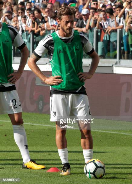 Claudio Marchisio during Serie A match between Juventus v Cagliari in Turin on August 19 2017