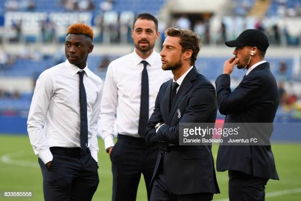 Claudio Marchisio during the Italian Supercup match between Juventus and SS Lazio at Stadio Olimpico on August 13 2017 in Rome Italy