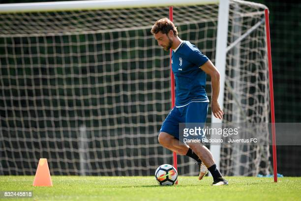 Claudio Marchisio during the morning training session at Juventus Center Vinovo on August 16 2017 in Vinovo Italy
