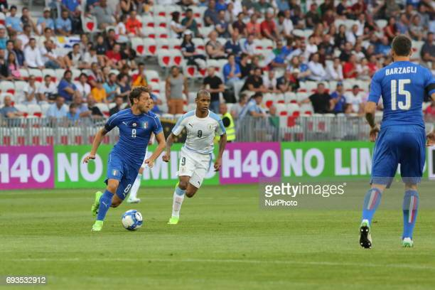Claudio Marchisio in action during the international friendly between Italy and Uruguay at Allianz Riviera stadium on June 7 2017 in Nice France