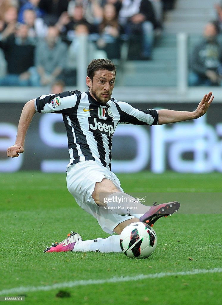 Claudio Marchisio of FC Juventus in action during the Serie A match between FC Juventus and Calcio Catania at Juventus Arena on March 10, 2013 in Turin, Italy.