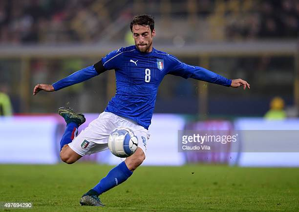 Claudio Marchisio of Italy in action during the international friendly match between Italy and Romania at Stadio Renato Dall'Ara on November 17 2015...