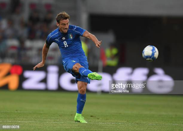 Claudio Marchisio of Italy in action during the International Friendly match between Italy v Uruguay on June 7 2017 in Nice France