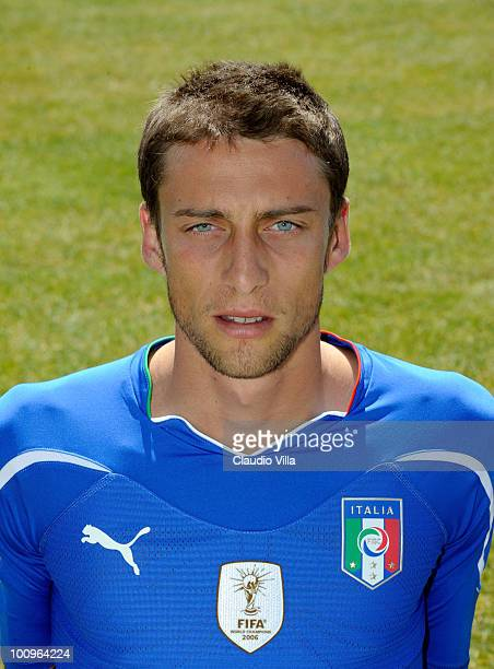 Claudio Marchisio of Italy poses during the official Fifa World Cup 2010 portrait session on May 26 2010 in Sestriere near Turin Italy