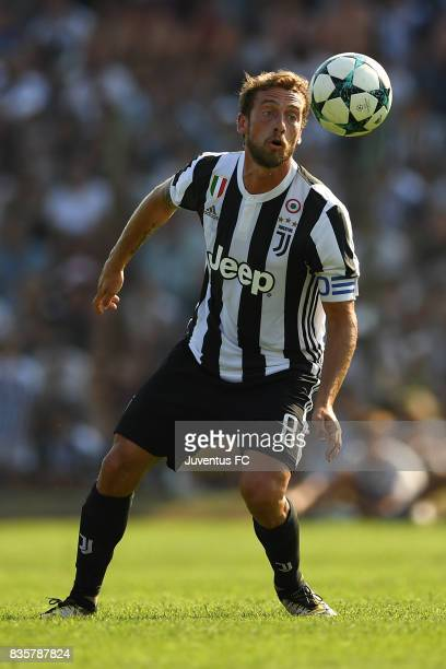 Claudio Marchisio of Juventus A in action during the preseason friendly match between Juventus A and Juventus B on August 17 2017 in Villar Perosa...