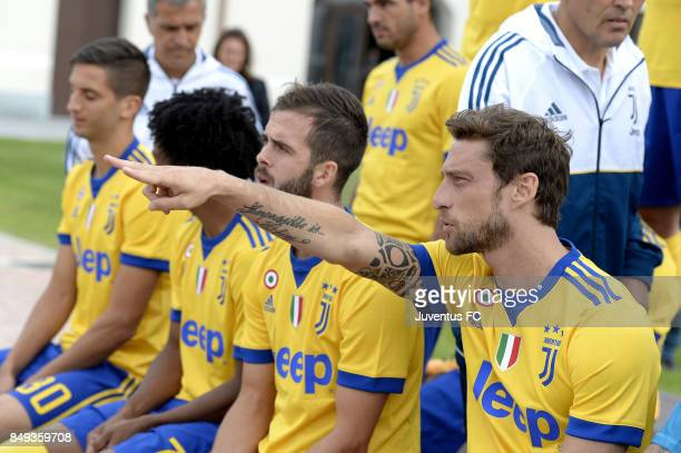 Claudio Marchisio of Juventus attends the First Team Squad Photocall on September 18 2017 in Turin Italy