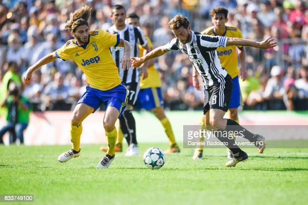 Claudio Marchisio of Juventus during the preseason friendly match between Juventus A and Juventus B on August 17 2017 in Villar Perosa Italy