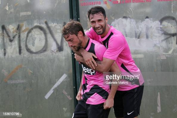 Claudio Marchisio of Juventus FC celebrates after scoring a goal during the Serie A match between AC Siena and FC Juventus at Stadio Artemio Franchi...