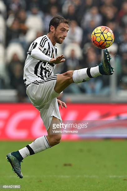 Claudio Marchisio of Juventus FC controls the ball during the Serie A match between Juventus FC and Atalanta BC at Juventus Arena on October 25 2015...