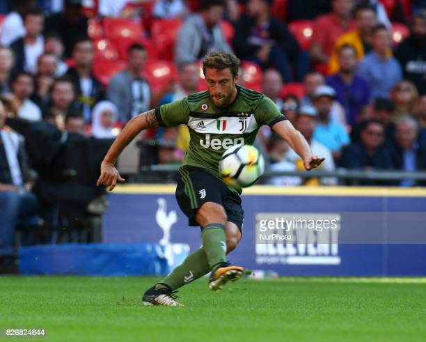 Claudio Marchisio of Juventus FC during the Friendly match between Tottenham Hotspur and Juventus at Wembley stadium London England on 5 August 2017