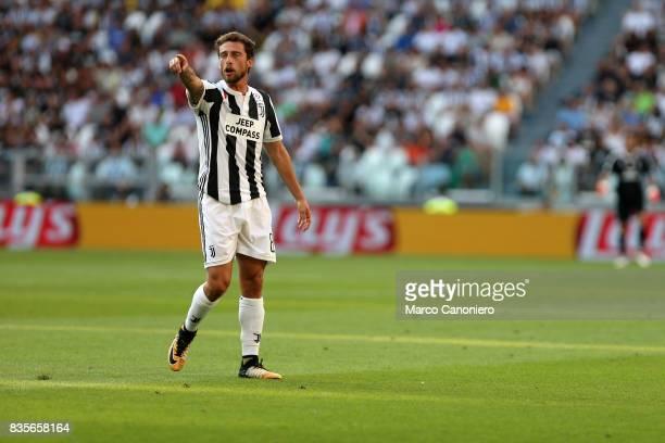 Claudio Marchisio of Juventus FC gestures during the Serie A football match between Juventus FC and Cagliari Calcio Juventus Fc wins 30 over Cagliari...