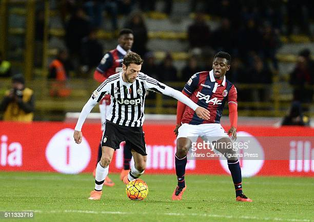 Claudio Marchisio of Juventus FC in action during the Serie A match between Bologna FC and Juventus FC at Stadio Renato Dall'Ara on February 19 2016...