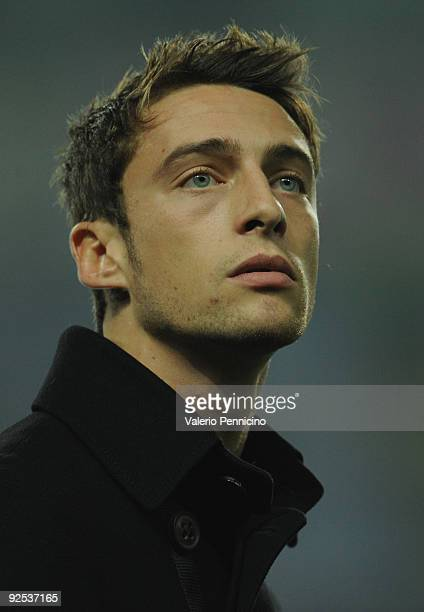 Claudio Marchisio of Juventus FC looks before the Serie A match between Juventus FC and UC Sampdoria at Olimpico Stadium on October 28 2009 in Turin...