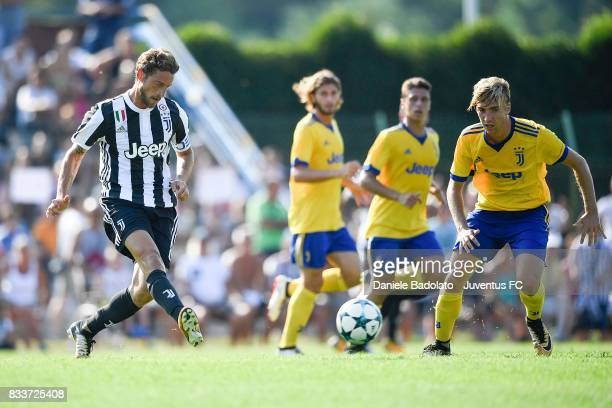 Claudio Marchisio of Juventus in action during the preseason friendly match between Juventus A and Juventus B on August 17 2017 in Villar Perosa Italy