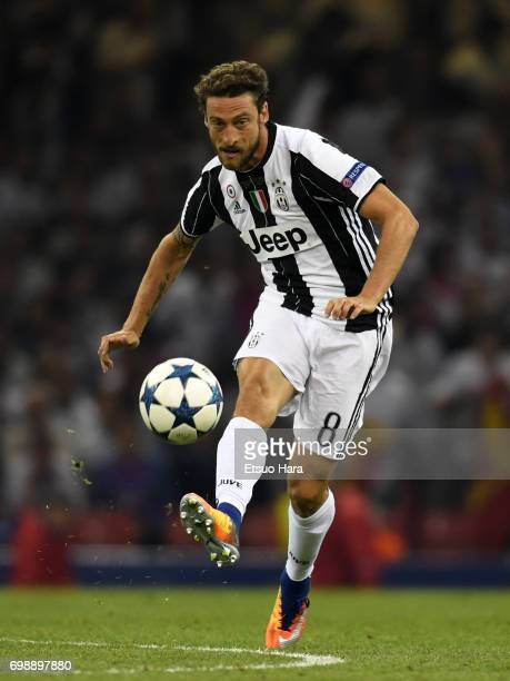 Claudio Marchisio of Juventus in action during the UEFA Champions League final match between Juventus and Real Madrid at National Stadium of Wales on...
