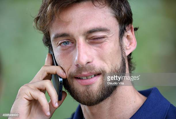 Claudio Marchisio prior to the Italy Training Session at Coverciano on November 12 2014 in Florence Italy